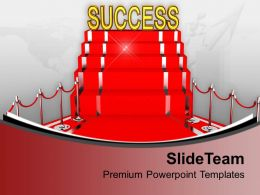 Red Carpet Success Concept Illustration PowerPoint Templates PPT Themes And Graphics 0213