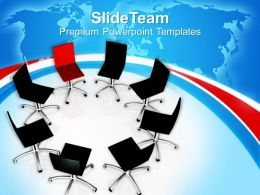 red chair among black chairs leadership concept powerpoint templates ppt themes and graphics 0213