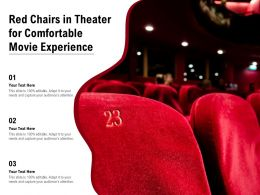 Red Chairs In Theater For Comfortable Movie Experience