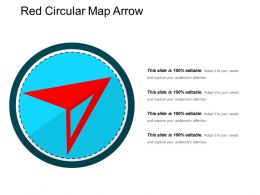 Red Circular Map Arrow