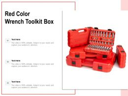 Red Color Wrench Toolkit Box
