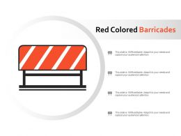 Red Colored Barricades