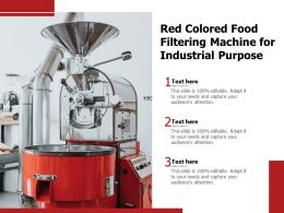 Red Colored Food Filtering Machine For Industrial Purpose