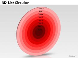 Red Colored List Circular Diagram