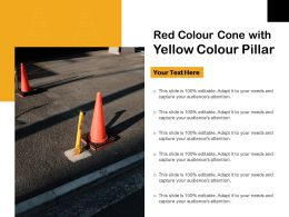 Red Colour Cone With Yellow Colour Pillar