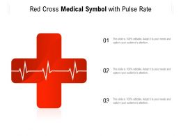 Red Cross Medical Symbol With Pulse Rate