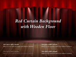 Red Curtain Background With Wooden Floor