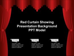 Red Curtain Showing Presentation Background Ppt Model