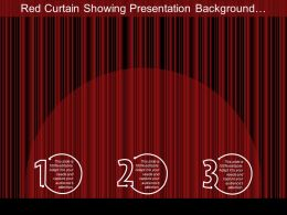 Red Curtain Showing Presentation Background With Wooden Floor Ppt
