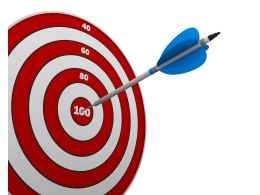 Red Dartboard And Arrow To Show Success Target Stock Photo