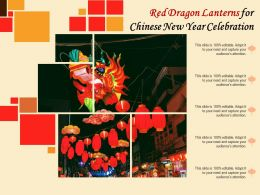 Red Dragon Lanterns For Chinese New Year Celebration
