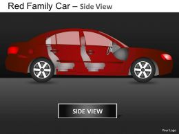 Red Family Car Side View Powerpoint Presentation Slides DB