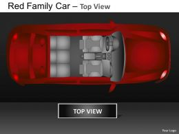 Red Family Car Top View Powerpoint Presentation Slides DB