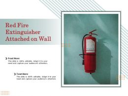Red Fire Extinguisher Attached On Wall