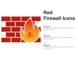 Red Firewall Icons