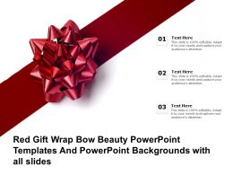 Red Gift Wrap Bow Beauty Powerpoint Templates And Backgrounds With All Slides
