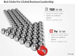 Red Globe For Global Business Leadership Image Graphics For Powerpoint