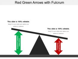 Red Green Arrows With Fulcrum