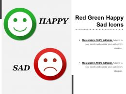 Red Green Happy Sad Icons