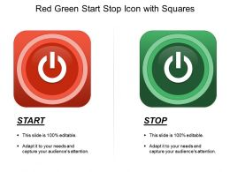 Red Green Start Stop Icon With Squares