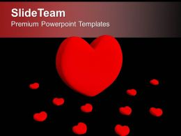 Red Heart Symbol Of Love Powerpoint Templates Ppt Themes And Graphics 0313