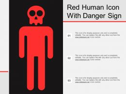 Red Human Icon With Danger Sign