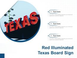 Red Illuminated Texas Board Sign