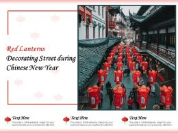Red Lanterns Decorating Street During Chinese New Year