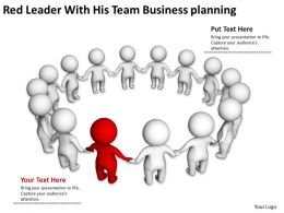 Red Leader With His Team Business planning Ppt Graphic Icon