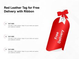 Red Leather Tag For Free Delivery With Ribbon