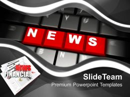 Red News Word On Keyboard Powerpoint Templates Ppt Themes And Graphics