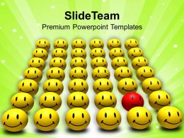 red odd one out smiley powerpoint templates ppt themes and graphics 0213