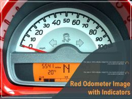 Red Odometer Image With Indicators