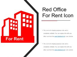 Red Office For Rent Icon