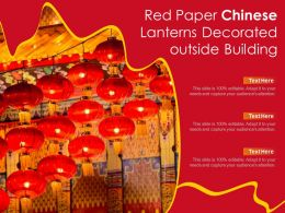 Red Paper Chinese Lanterns Decorated Outside Building