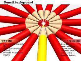 red_pencils_with_yellow_leader_pointing_together_in_center_Slide01