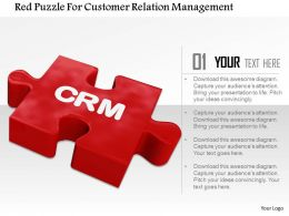 Red Puzzle For Customer Relation Management Image Graphics For Powerpoint