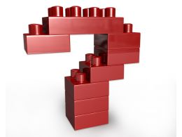 Red Question Mark Made Of Lego Blocks Stock Photo