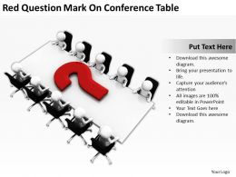Red Question Mark On Conference Table Ppt Graphics Icons Powerpoint