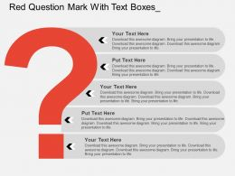 Red Question Mark With Text Boxes Flat Powerpoint Design
