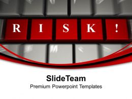red risk word on keyboard powerpoint templates ppt themes and graphics 0213