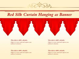 Red Silk Curtain Hanging As Banner