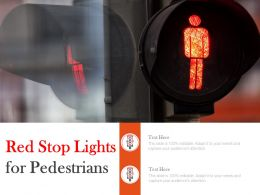 Red Stop Lights For Pedestrians