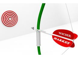 Red Target Dart Achievement Arrow With Word Market Stock Photo