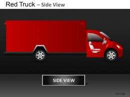 Red Truck Side View Powerpoint Presentation Slides DB