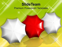 Red Umbrella Leadership Concept Business Powerpoint Templates Ppt Themes And Graphics