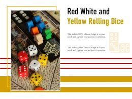 Red White And Yellow Rolling Dice