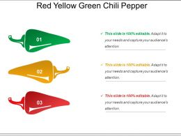 Red Yellow Green Chili Pepper