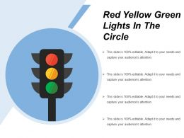 Red Yellow Green Lights In The Circle