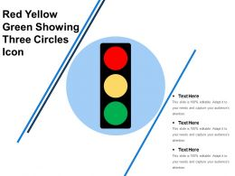 Red Yellow Green Showing Three Circles Icon